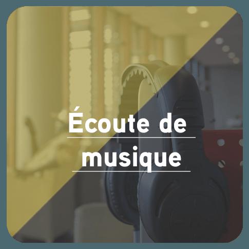 Bouton pour accédez à la page Écoute de musique